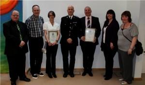 Basingstoke Streetpastors with Commander Steve Wallace from Basingstoke Police