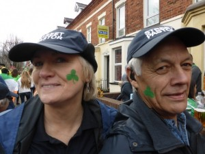 Beth & Paul with shamrocks