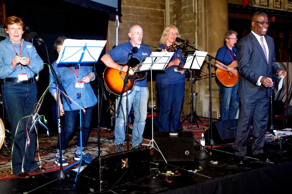 Rev Les Isaac OBE and SP band
