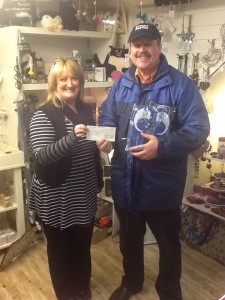 A Big Thank You for the generous support and a cheque for £1,333