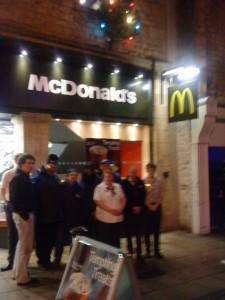 McDonalds' Lancaster Community support Lancaster Street Pastors