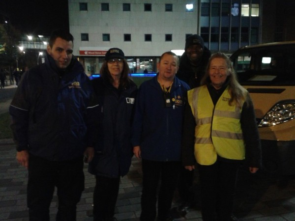 The High Sheriff of Bedfordshire goes out on patrol with Luton Street Pastors