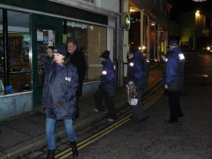 Street Pastors out in Penzance for the first time, Dec '12