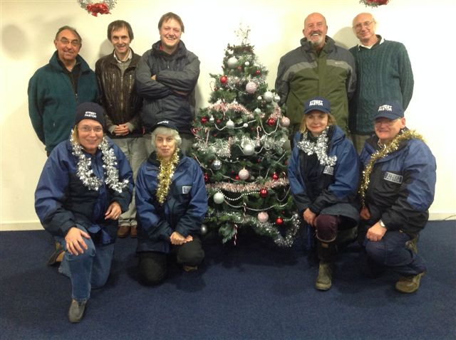 Festive break between shifts, Street Pastors, Prayer Pastors (who are back at base) & 3 Town Councillors who had been out as observers on the 1st shift. 14-15th Dec 2013