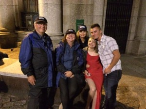 Team enjoying meeting people, Saturday night / Sunday morning 30-31/08/14