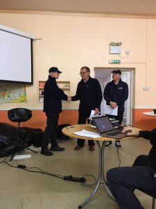 Peter welcoming our new Street Pastors