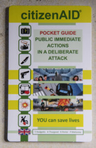 Pocket guide for public actions in a deliberate attack