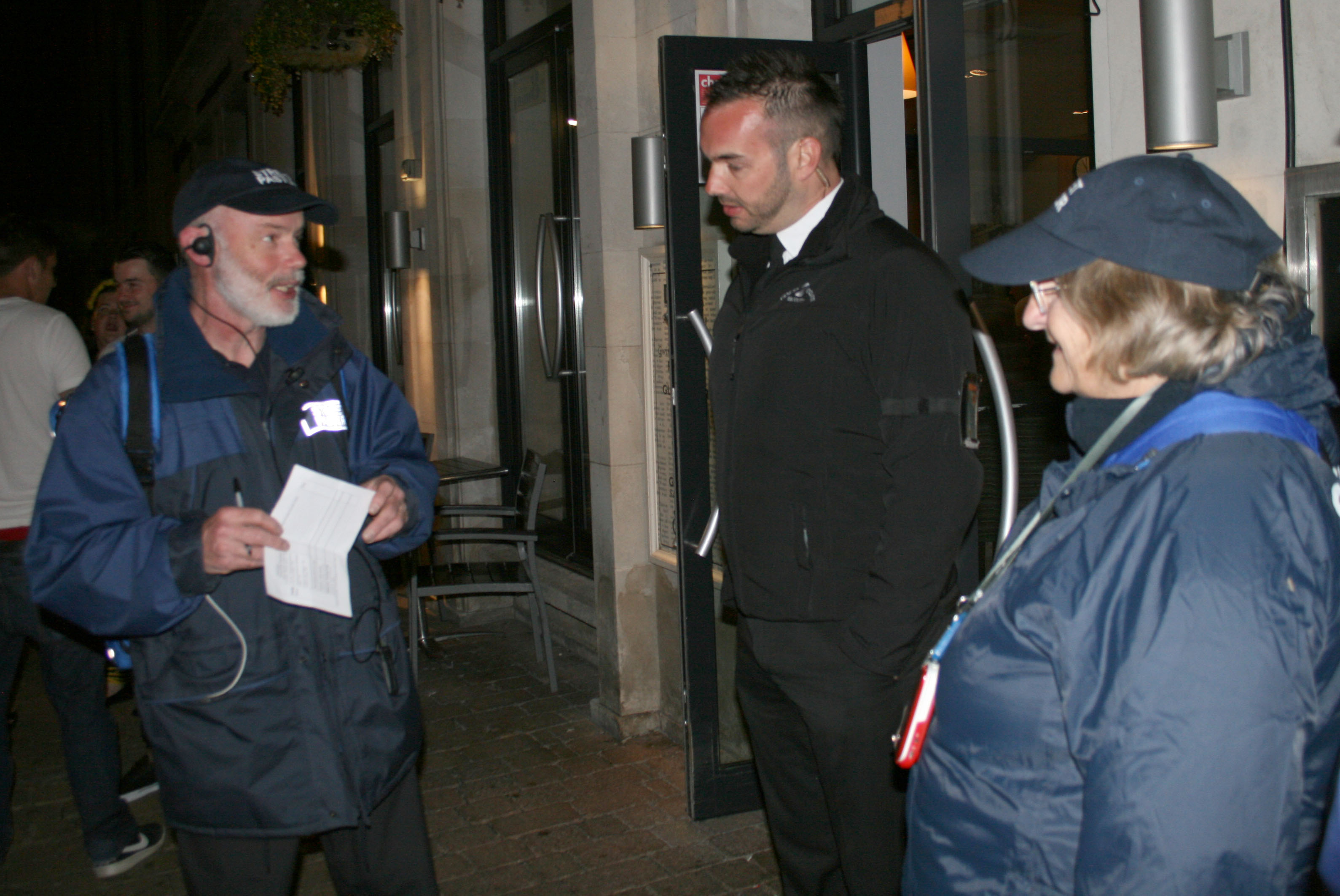Speaking with door staff at Witherspoon's - May 2015