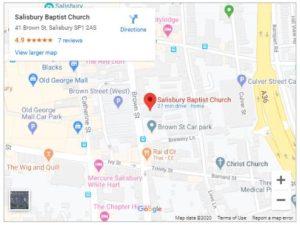 Salisbury Street Pastor Map